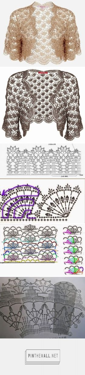 ergahandmade: Crochet Bolero + Diagrams - created via https://pinthemall.net https://ergahandmade.blogspot.gr/2016/04/crochet-bolero-diagrams.html?m=1