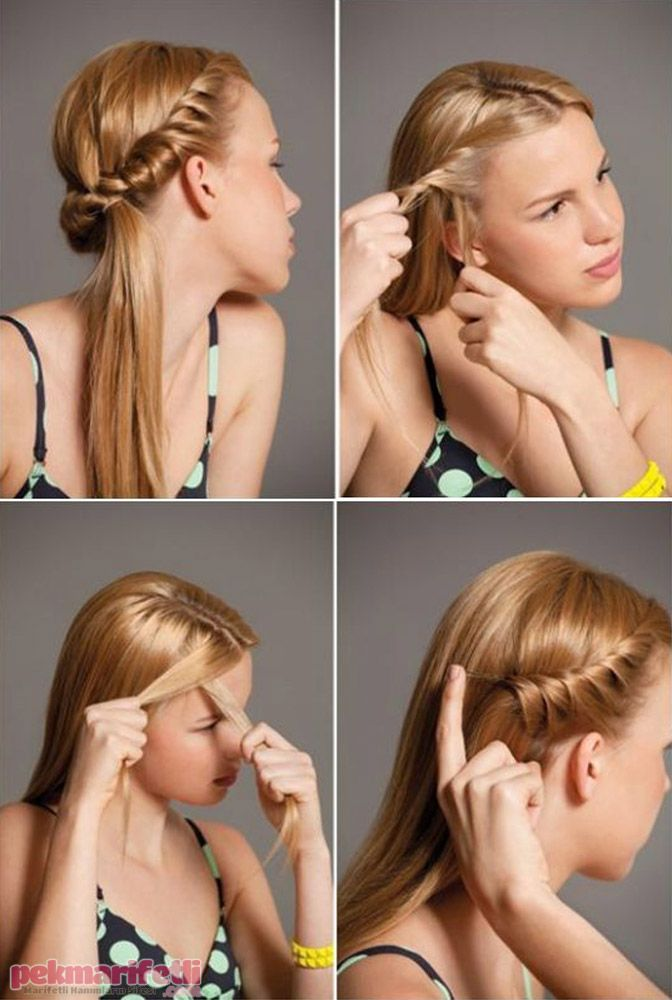 Günlük kolay saç modeli | Saç Modelleri | Pek Marifetli!