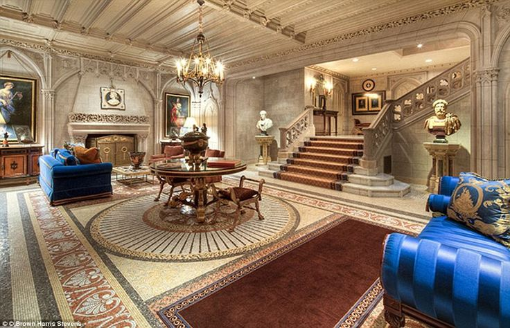 Luxurious: The Woolworth Mansion - once dubbed New York's most expensive house - is now available to rent for an astonishing $150,000 a month