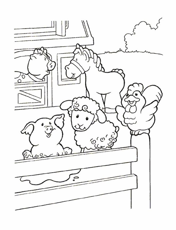 Little people coloring pages 22 kids farm kids for Little people coloring pages