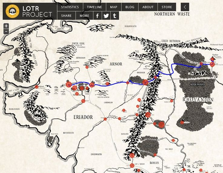 Interactive Map of Middle Earth – Earth Interactive Map