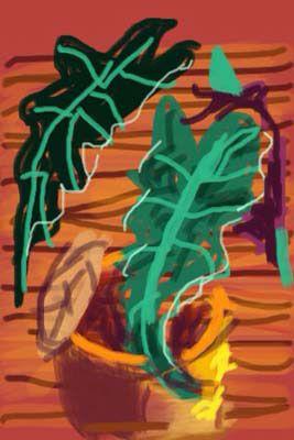 DAVID HOCKNEY: IPhone drawing 2009