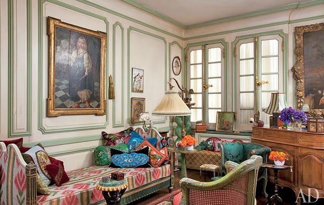 Iris Apfel's Home: Irisapfel, Celebrity Style, Rare Birds, Living Rooms, Style Icons, Ny Apartment, Iris Apfel, Architecture Digest, Manhattan Apartment
