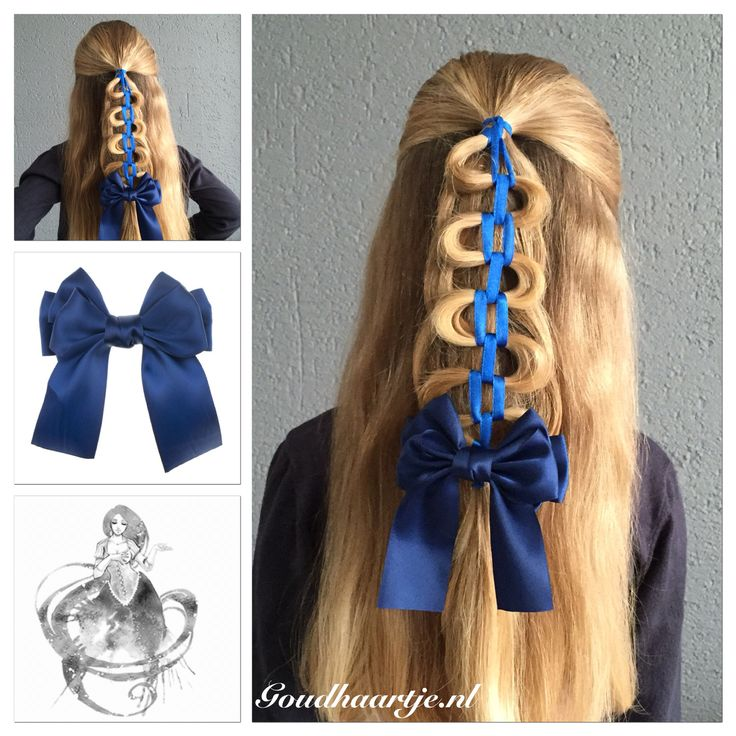Halfup hairstyle with a blue ribbon and bow from Goudhaartje.nl This hairstyle is inspired by the very nice and creative @vlechtidee #IDponytailribbonchain #halfup #halfupdo #hair #hairstyle #braid #ribbon #bow #hairbow #longhair #beautifulhairstyle #hairaccessories #haar #haarstijl #vlecht #lint #haarlint #strik #haarstrik #strikje #haarstijl #haaraccessoires #goudhaartje