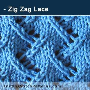 Zig Zag Lace. Free Knitted stitch. This excellent pattern includes written instructions and video tutorial.!