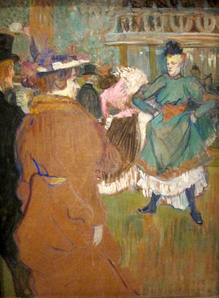 Henri de Toulouse-Lautrec, Quadrille at the Moulin Rouge (1892)