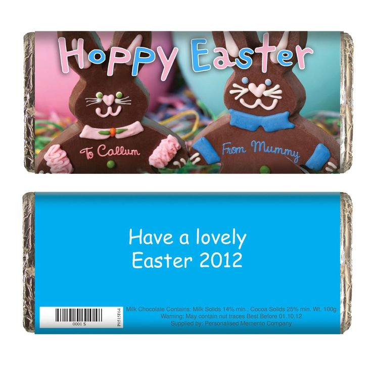 79 best personalised easter gifts images on pinterest easter have a hoppy easter with this delicious easter chocolate bar personalise the chocolate bar with negle Choice Image