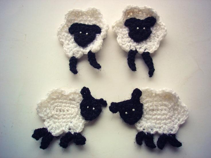 Crochet sheep applique