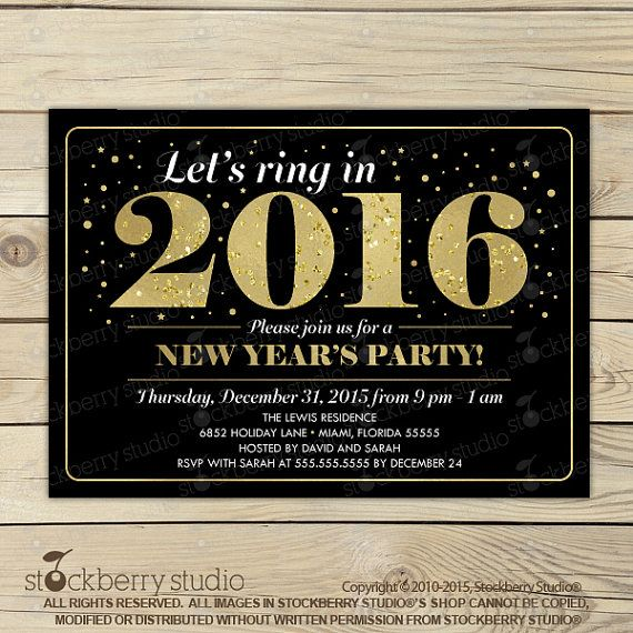 Are you planning on ringing in the new year by throwing a New Years Eve bash?Get the party started with one of these 2016 New Years Eve party invitations! These are do-it-yourself printable invita…