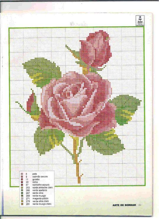 Cross-stitch Rose... Gallery.ru / Фото #30 - 7 - kento