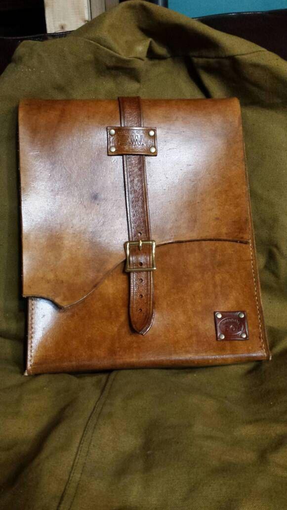 Custom leather vertical messenger bag by drdodsondesigns on Etsy