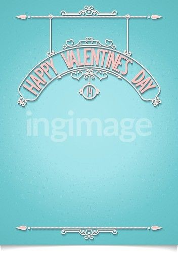 Valentine's Day greeting with 3D typography composition and decorations on textured background.  Vector illustration eps10