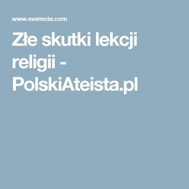 Złe skutki lekcji religii - PolskiAteista.pl