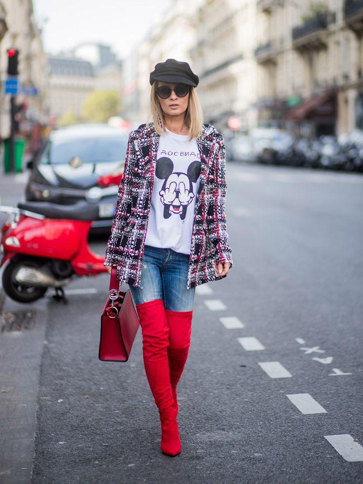 On ose : les cuissardes avec un jean skinny