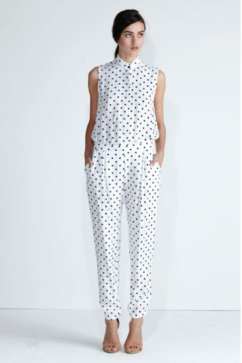 Secret South SS13/14 collection.  Onyx Shirt and Wildflower Pant in Spot Cupro. www.secretsouth.com.au