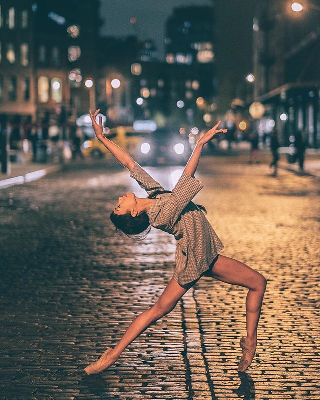 Breathtaking Shots of Ballerinas Against City Backdrops