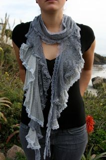 Really love this pretty blue-grey textured scarf.