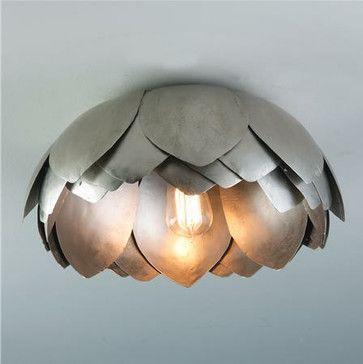 Metal Lotus Flush Mount Ceiling Light - contemporary - ceiling lighting - Shades of Light