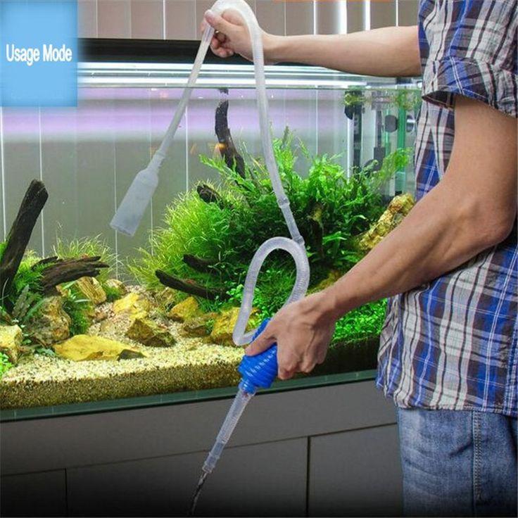 103 cm Aquário Ferramenta de Limpeza Manual Fr Tubo de Sucção do Filtro Do Tanque de Peixes de Cascalho Sifão Bomba de Vácuo De Água Mudança Ferramentas Agradável