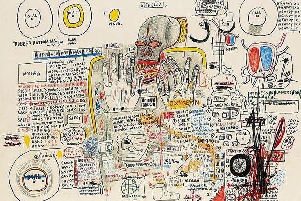 Drawings from Jean-Michel Basquiat :: Acquavella Galleries: UES thru June 13th | Basquiat. Basquiat paintings. Jean michel basquiat
