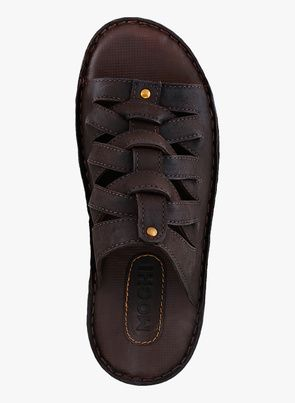 f21e63a4d24 Buy Mochi Brown Slippers for Men Online India