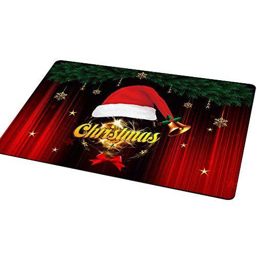 Wo liegt Santa Fu�matte, 40x60cm Anti-Rutsch Frohe Weihnachten Welcome Teppich, Schuhe Schaber, Bodenmatten Eintrag Bodenteppich, Lustig Dekorative Fu�matten, Eingang Mat