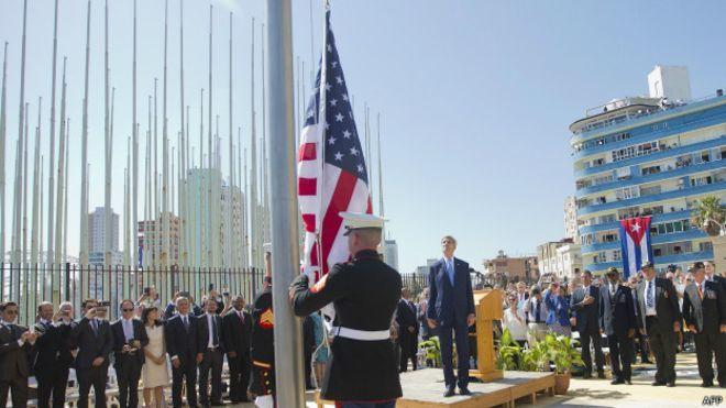 Bandera de EE.UU. en La Habana La bandera de EE.UU. en Cuba: el día en que la historia se desplegó ante nosotros