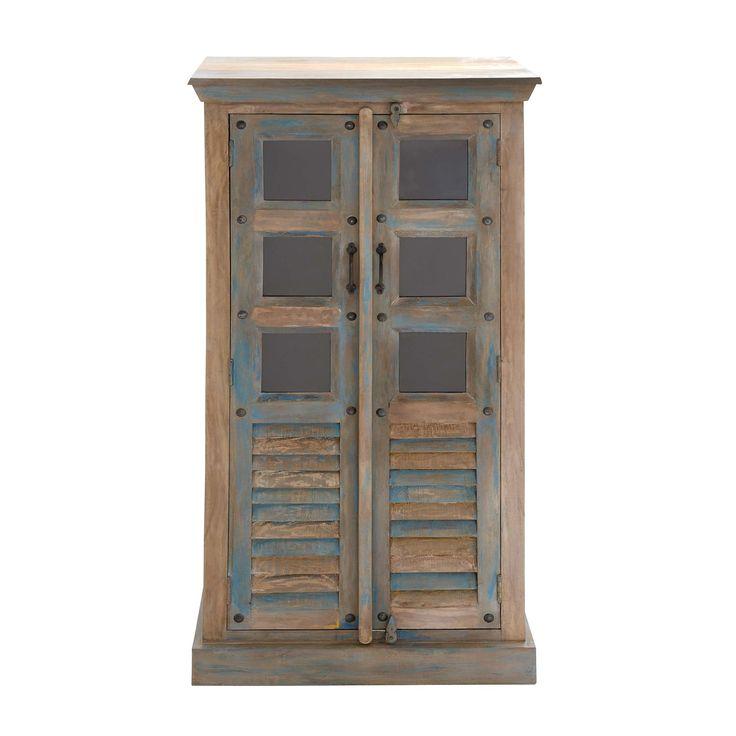Woodland Imports 16560 Good Old Wood Glass Almirah
