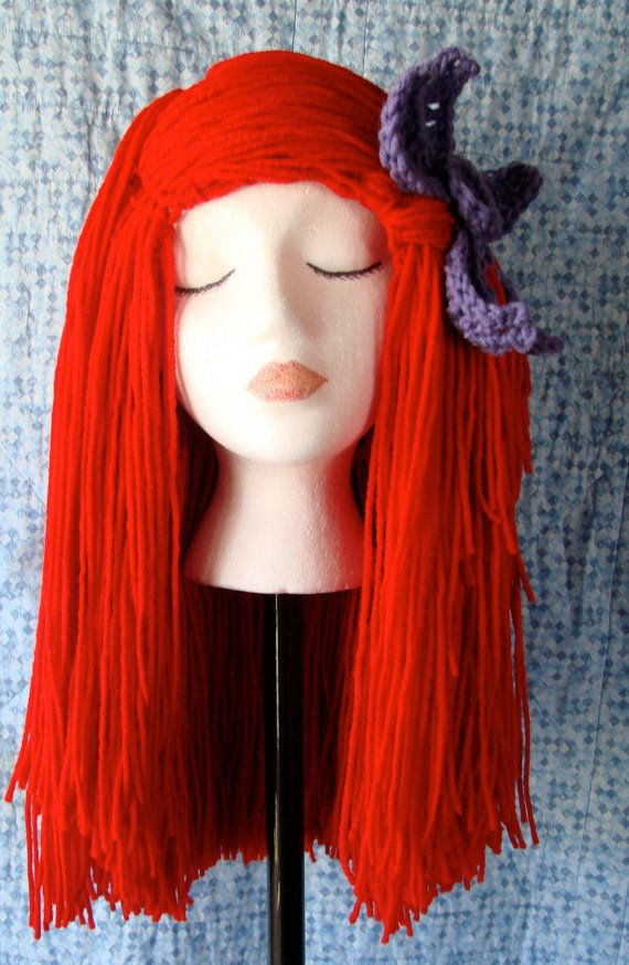 Little Mermaid Yarn Wig. Yarn wigs in general would be good...