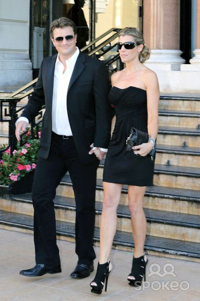 Nathan Fillion and fiancé Kate Luyben outside the Hotel de Paris. 52nd Annual Monte Carlo TV and Film Festival. Monte Carlo, Monaco - 12.06.12.