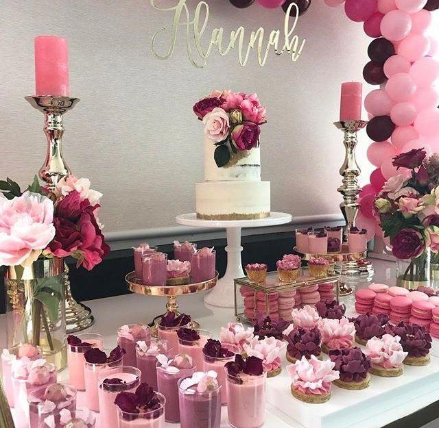 Pink und Burgunder #quinceanerapartydecorations   – Deko and party