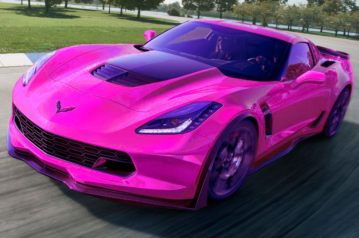 A Beautiful Hot Pink Corvette Stingray Hotpink