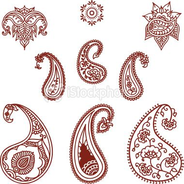Henna Tattoo, Paisley, Indian Culture, Pattern, Design, Vector, Collection, Single Flower, Design Element, Floral Pattern  {via HiDesignGraphics istockphoto.com}