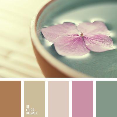 beige y rosado, celeste y marrón, celeste y rosado, color verde menta, colores rosado y verde menta, marrón y azul claro, matices cálidos del marrón, matices de color beige, rosado pálido, rosado y celeste, rosado y marrón, tonos lilas, tonos marrones, tonos rosados, verde menta y