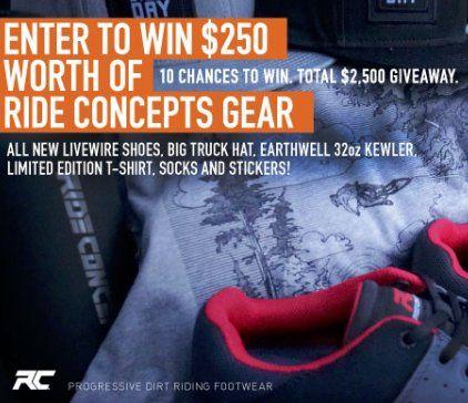 Grand prix d'une valeur de 250,00 $! Chaussures Livewire de Ride Concepts, camionneur Bigtruck Collab …   – Sweepstakes & Contests