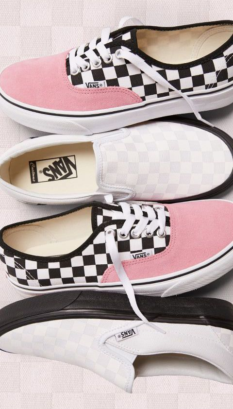 vans slip on checkerboard custom