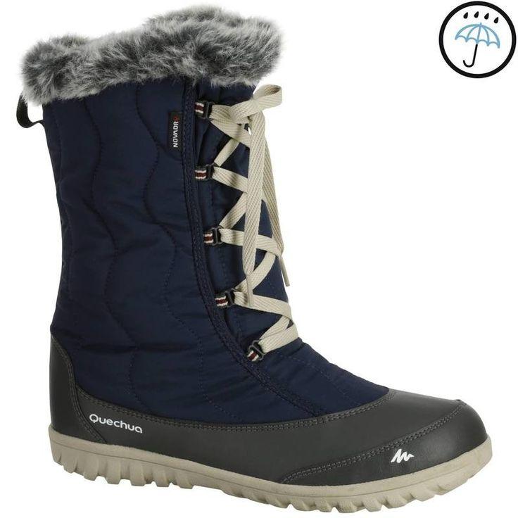 RANDONNEE Habillement Femme Chaussures - BOTTE ARP500 WARM WTP F MARINE QUECHUA - Femme
