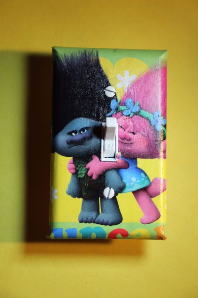 Trolls Movie Poppy u0026 Branch Light Switch Cover boys girls kids room home decor & 11 best DreamWorks Trolls images on Pinterest | Beautiful Bows ... azcodes.com