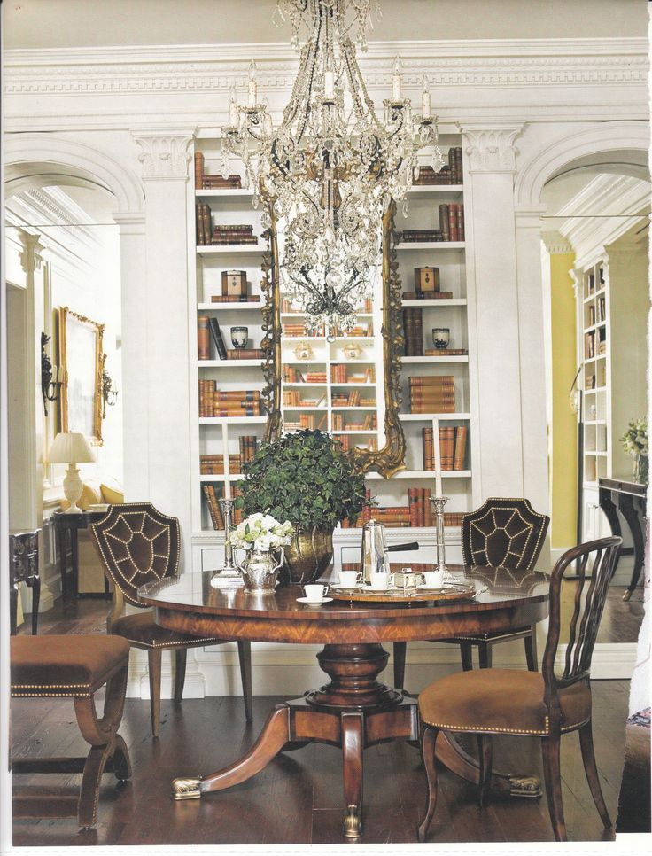 98 best images about farmhouse dining room on pinterest for Dining room library