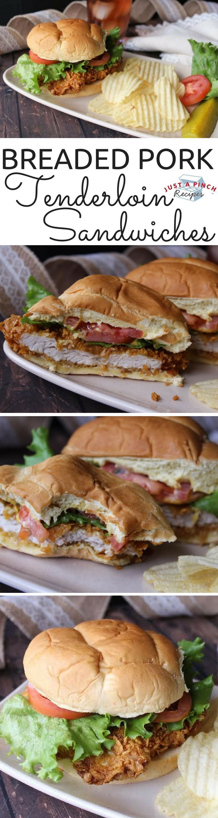"""Breaded Pork Tenderloin Sandwiches 