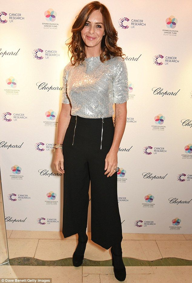 She's in fashion! Trinny Woodall turned heads as she attended the Lady Garden gala in London on Thursday