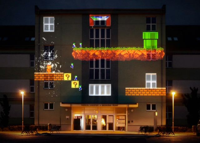 Projection mapping a house