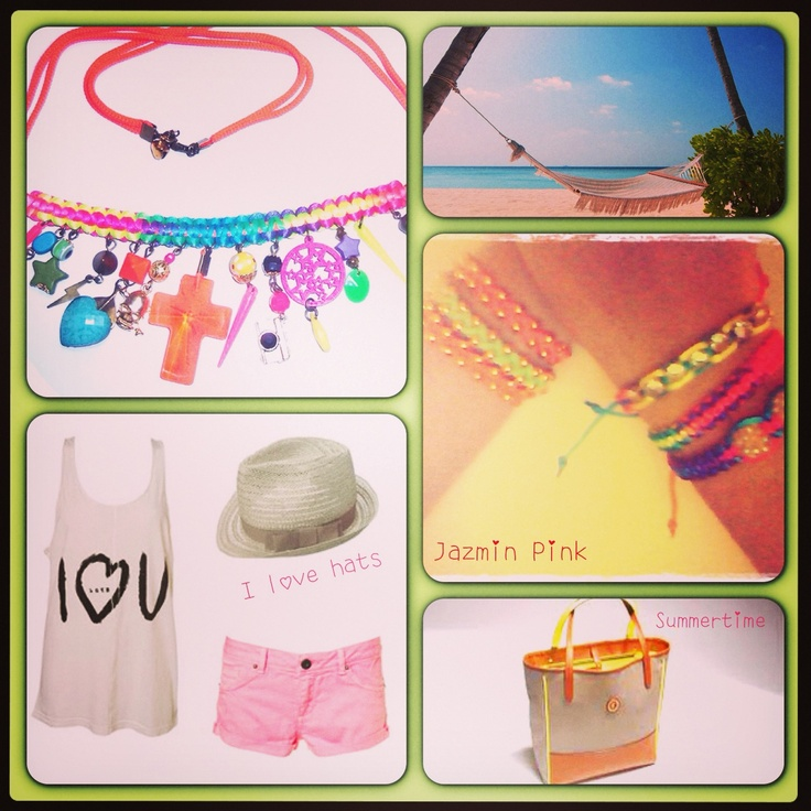 Look Playero!  #summer #necklace #collars #fashion #accessories #jewelry #mode #look #fashioaccessories #luxjewelry #bracelets #fluo