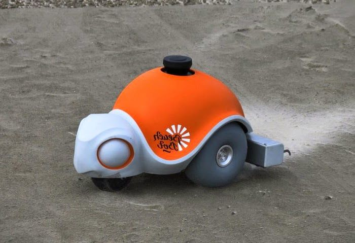 GadgetsXone: Latest Technology Gadgets: Robot Beachbot creates large-scale paintings on the sandy beaches
