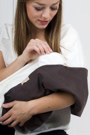 """La sciarpa allattamento grigio motivo """"White Coffee"""", taglia S-M: Amazon.it: Prima infanzia"""