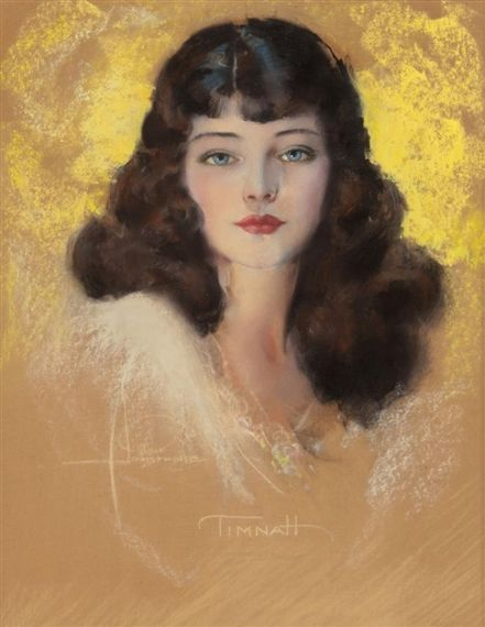 Rolf Armstrong - Timnah, Pastel on board