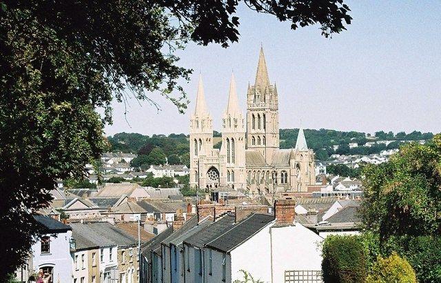 Truro, Cornwall  - Truro is mentioned a lot in 'Doc Martin' - many trips to the hospital there.