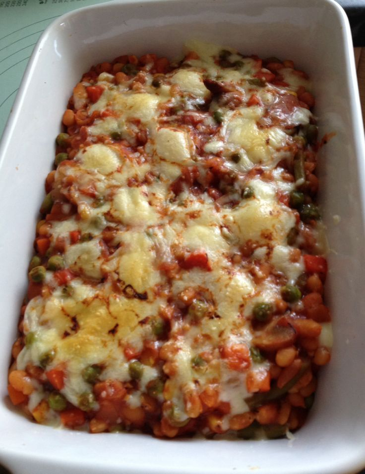 Slimming Workd Cheesy Bean Grill .. Really tasty veggie dish