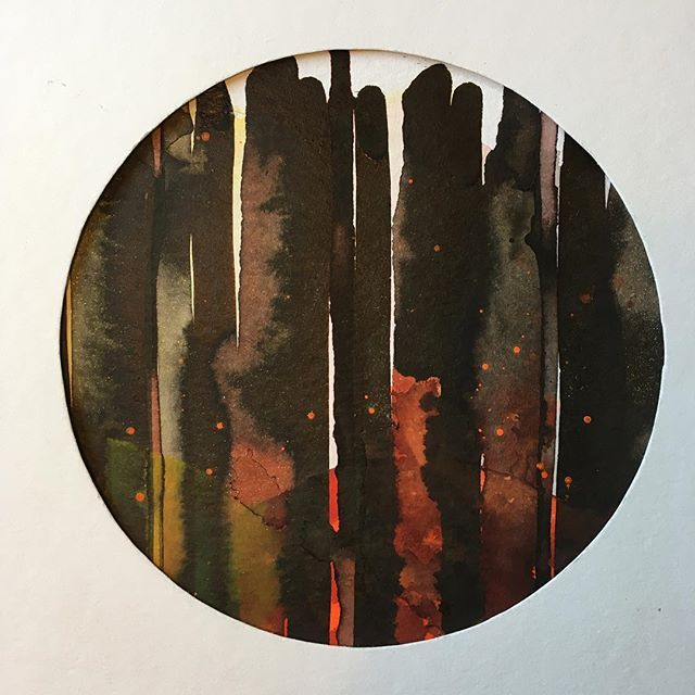 #watercolor #circle #akvarel #art #lonehartmann #mixedmedia