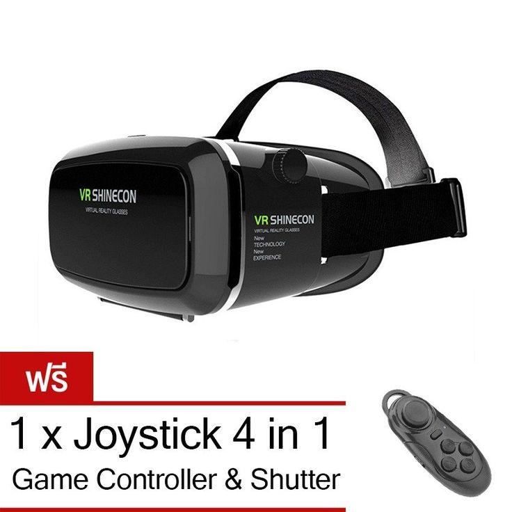 จัดเต็มวันนี้<SP>VR Box Shinecon 3D VR Glasses Headset แว่นตาดูหนัง 3D อัจฉริยะ สำหรับโทรศัพท์สมาร์ทโฟนทุกรุ่น (สีดำ) แถมฟรี 4 in 1 Bluetooth Wireless Selfie, Joystick, Mouse ,Remote++VR Box Shinecon 3D VR Glasses Headset แว่นตาดูหนัง 3D อัจฉริยะ สำหรับโทรศัพท์สมาร์ทโฟนทุกรุ่น (สีดำ) แถมฟรี 4 in 1 Bluetooth Wireless Selfie, Joystick, Mouse ,Remote (675 รีวิว) ภาพ 3D ให้ความรูสึกตื่ ...++